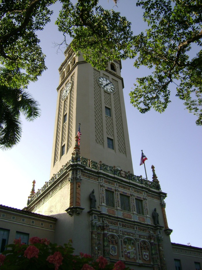 The main tower of the University of Puerto Rico in San Juan